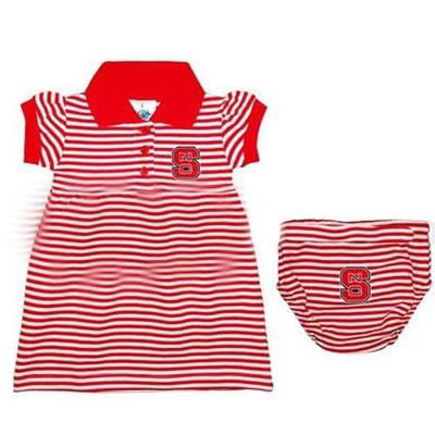 NC State Infant Striped Game Day Dress With Bloomer