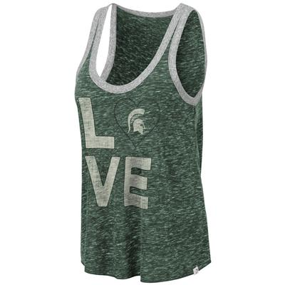 Michigan State Colosseum Women's Marsala Muscle Tank