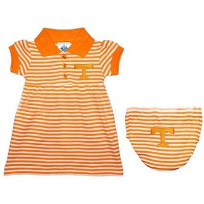 Tennessee Infant Striped Game Day Dress With Bloomer