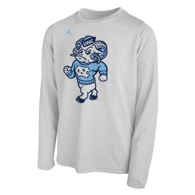 UNC Jordan Brand Youth 2019 NCAA Long Sleeve Bench T-Shirt