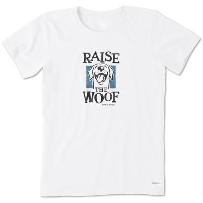 Life Is Good Raise the Woof Crusher Tee