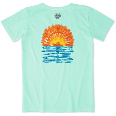 Life Is Good Tie Dye Boating Crusher Tee
