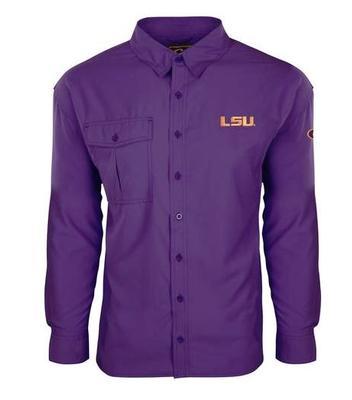 LSU Drake Flyweight Long Sleeve Button Down Shirt