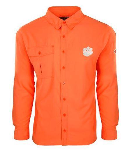 Clemson Drake Flyweight Long Sleeve Button Down Shirt