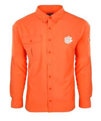 Clemson Drake Flyweight Long Sleeve Button Down Shirt