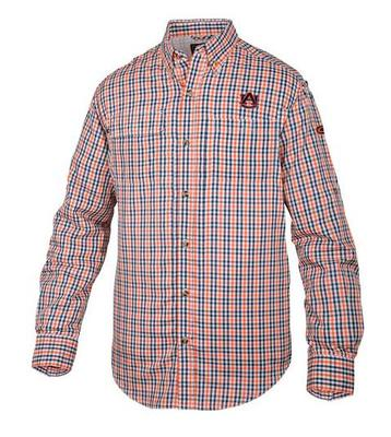 Auburn Drake Gingham Plaid Wingshooter's Long Sleeve Shirt