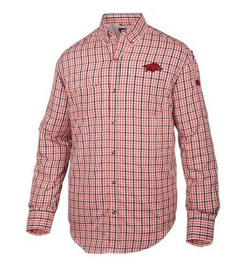 Arkansas Drake Gingham Plaid Wingshooter's Long Sleeve Shirt