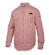 Arkansas Drake Gingham Plaid Wingshooter's Long Sleeve Shirt