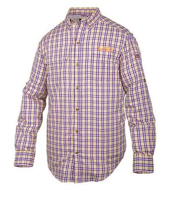 LSU Drake Gingham Plaid Wingshooter's Long Sleeve Shirt