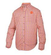 Clemson Drake Gingham Plaid Wingshooter's Long Sleeve Shirt