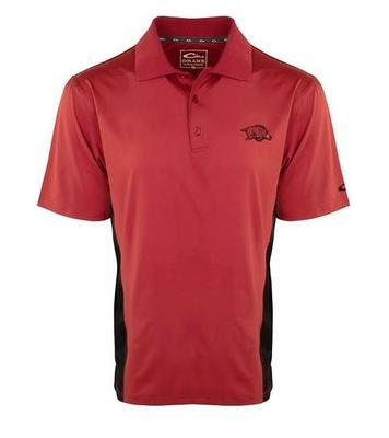 Arkansas Drake Performance Polo with Mesh Sides