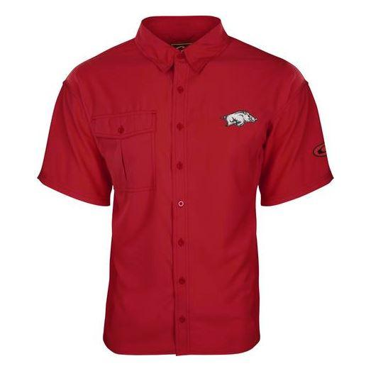Arkansas Drake Flyweight Short Sleeve Button Down Shirt