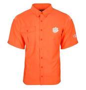 Clemson Drake Flyweight Short Sleeve Button Down Shirt