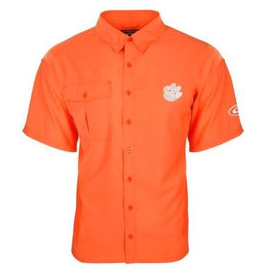 Clemson Drake Flyweight Short Sleeve Button Down Shirt