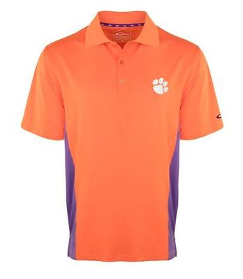 Clemson Drake Performance Polo with Mesh Sides