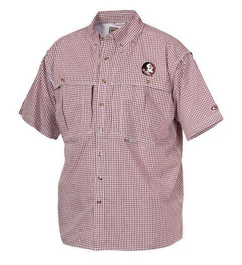 Florida State Drake Gingham Plaid Wingshooter's Short Sleeve Shirt