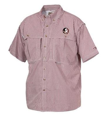 Florida State Drake Gingham Plaid Wingshooter's Short Sleeve Shirt