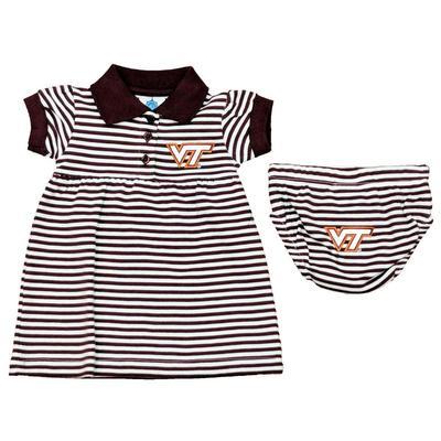 Virginia Tech Infant Stripe Dress