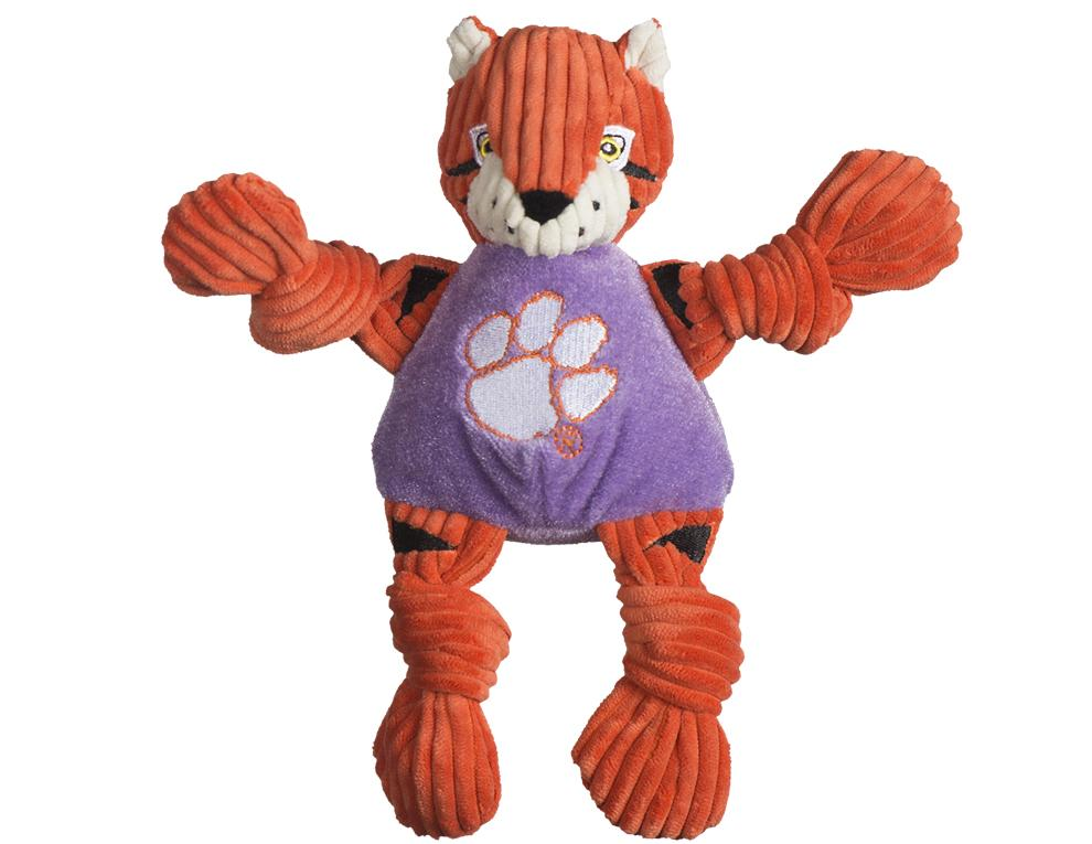 Clemson Tiger Small Plush Knottie Dog Toy