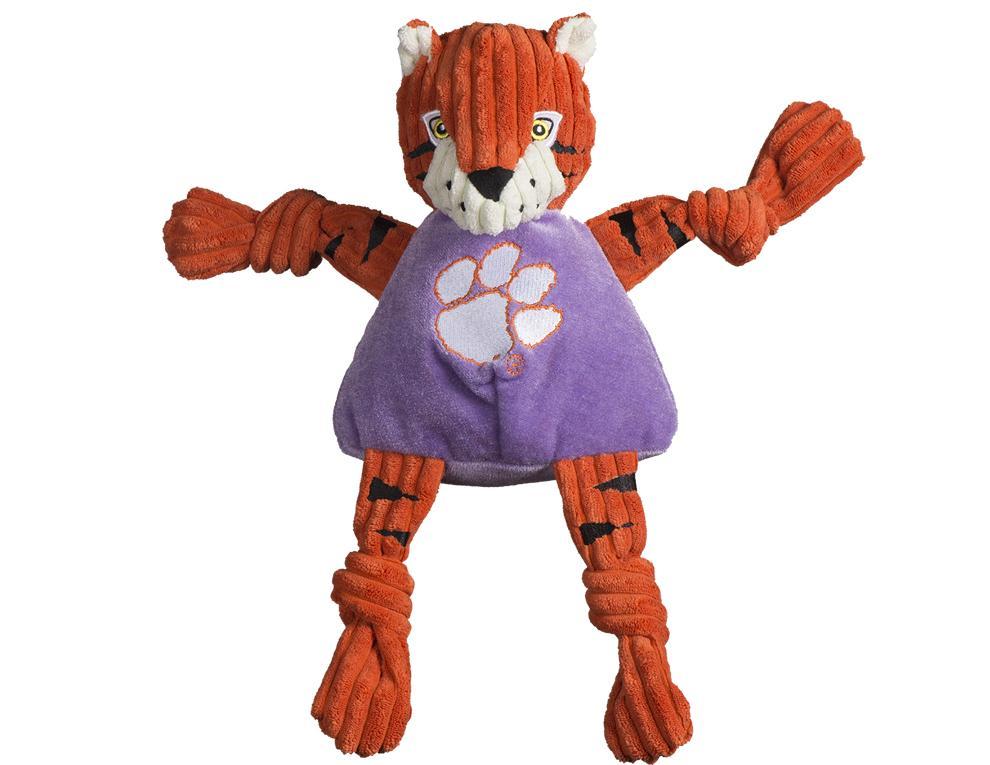 Clemson Tiger Large Plush Knottie Dog Toy