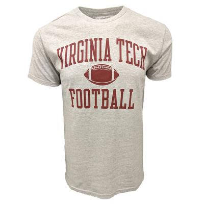 Virginia Tech Basic Football T-Shirt GREY