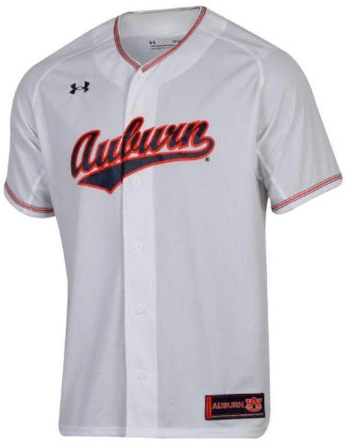 Auburn Under Armour Script Baseball Jersey