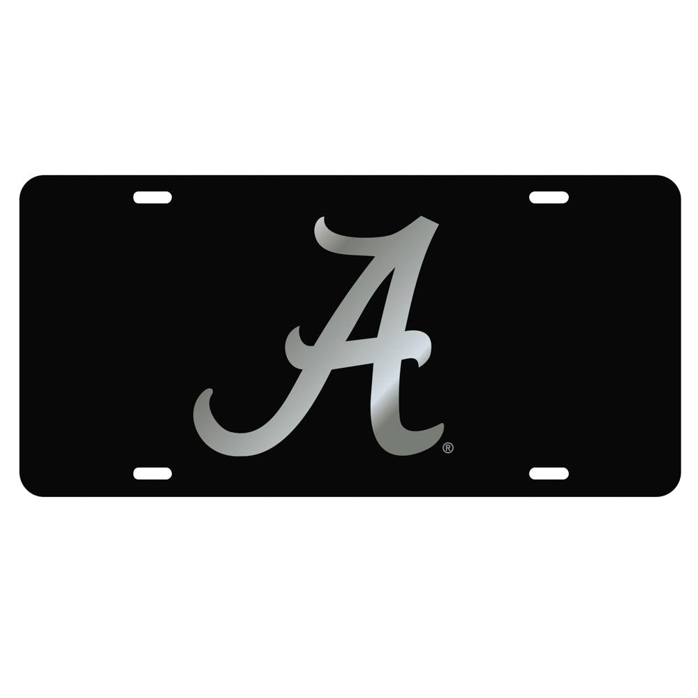 Alabama License Plate Black With Silver A