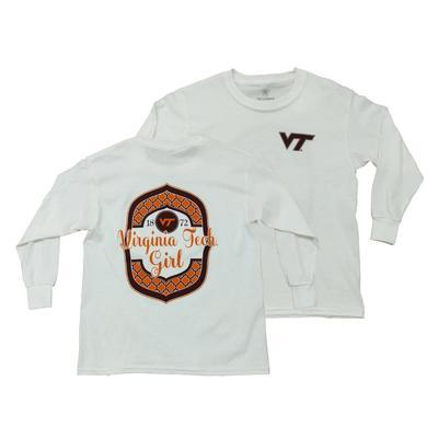 Virginia Tech Youth L/S VT Girl Pattern Shirt