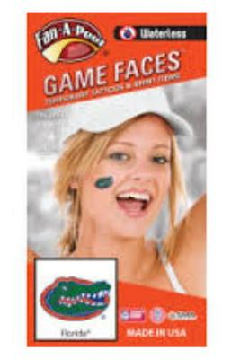 Florida Gators Face Decals (Waterless)