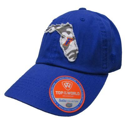 Florida Women's State Outline Adjustable Hat