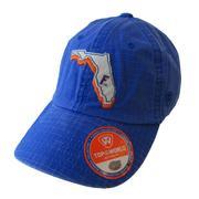 Florida W/State Outline Adjustable Hat
