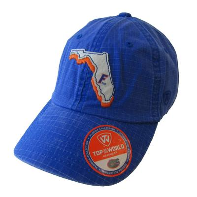 Florida W/ State Outline Adjustable Hat