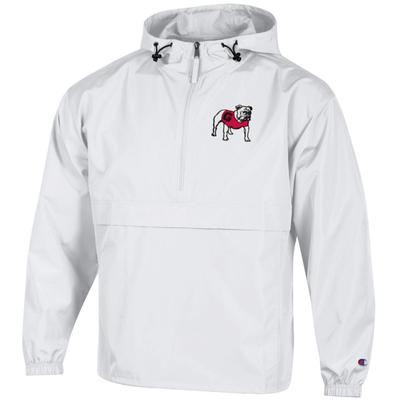 Georgia Champion Unisex Pack And Go Jacket WHITE