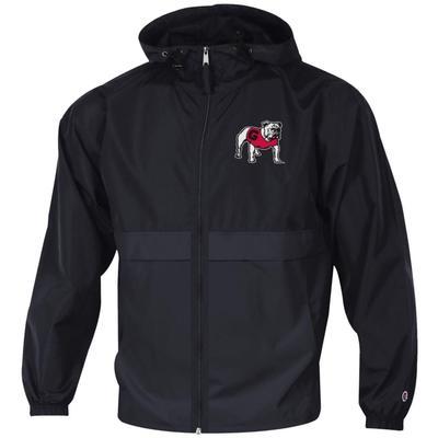 Georgia Champion Unisex Pack And Go Full Zip Jacket BLACK