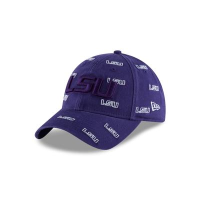 LSU New Era Mini Logo Scatter Cap