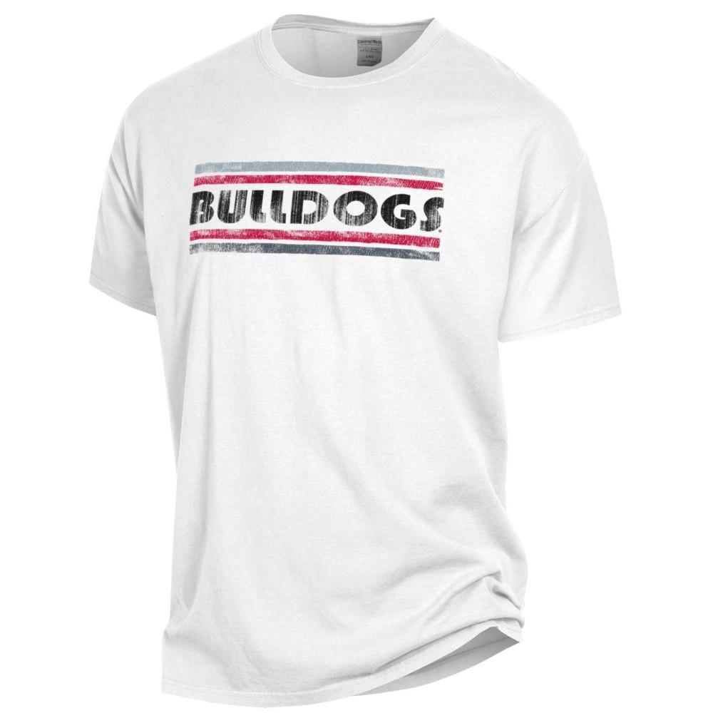 Georgia Bulldogs Women's Retro Bar Comfort Wash Tee