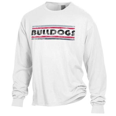Georgia Bulldogs Women's Retro Bar Long Sleeve Comfort Wash Tee