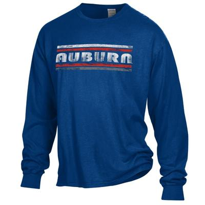 Auburn Women's Retro Bar Long Sleeve Comfort Wash Tee