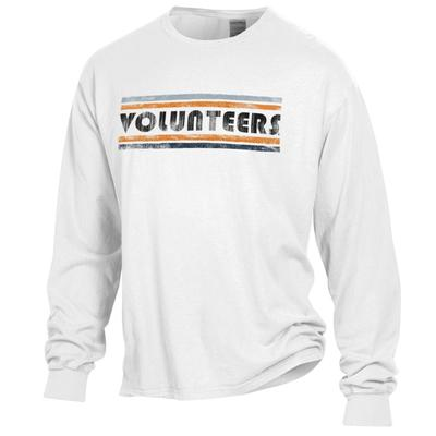 Tennessee Volunteers Women's Retro Bar Long Sleeve Comfort Wash Tee