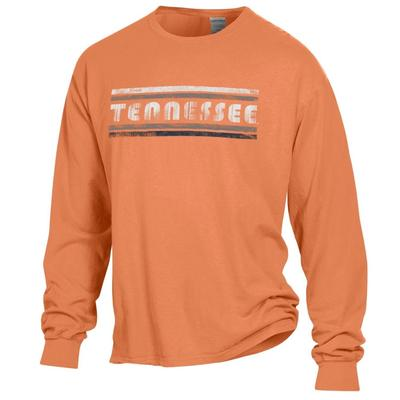 Tennessee Women's Retro Bar Long Sleeve Comfort Wash Tee