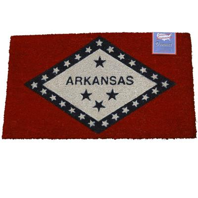 Arkansas State Flag Door Mat