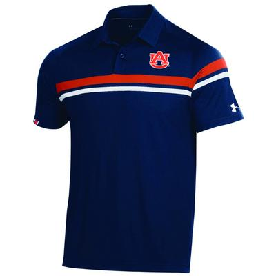 Auburn Under Armour Tour Drive Polo NAVY