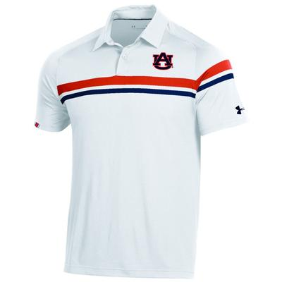 Auburn Under Armour Tour Drive Polo WHT