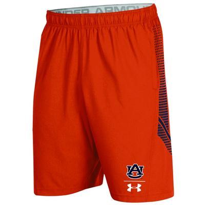 Auburn Under Armour Pinnacle Woven Shorts ORG