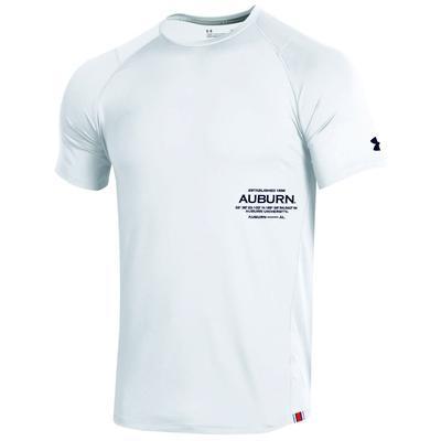 Auburn Under Armour MK1 Raid Short Sleeve Tee WHT