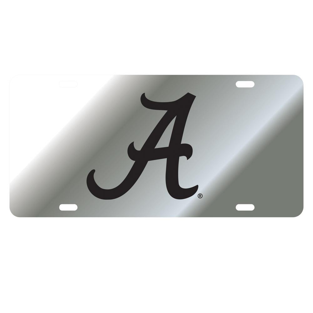Alabama License Plate Silver/Black Script A Logo