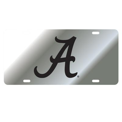 Alabama License Plate Silver/Black Script A Logo
