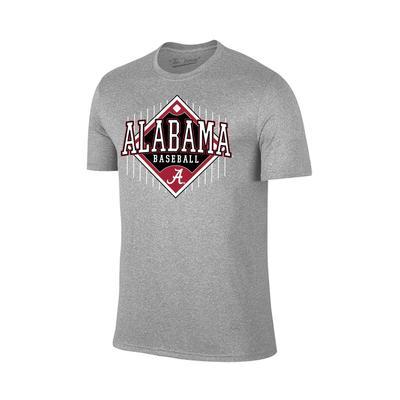 Alabama Baseball T Shirt GREY