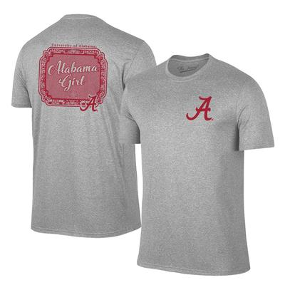 Alabama Girl Short Sleeve Tee Shirt GREY