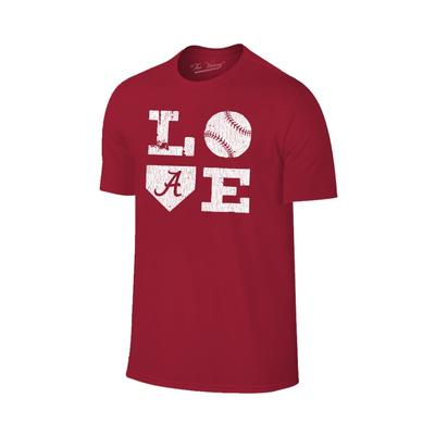 Alabama Love Softball Short Sleeve T Shirt